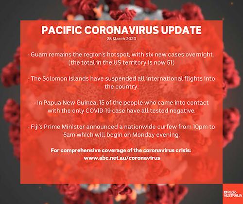 Pacific Covid-19 summary